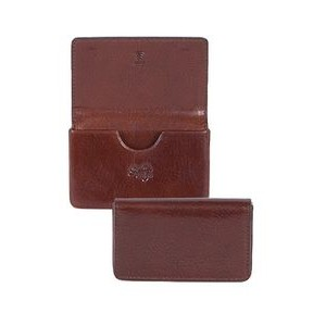 Italian Leather Business Card Case w/ RFID Theft Protection