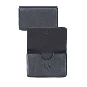 Plonge Leather Business Card Case w/ RFID Theft Protection